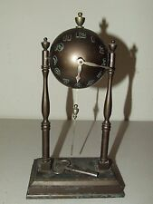 Antique Working 1933 Lux Clock Co. Art Deco Globe Ball Orb Novelty Mantel Clock