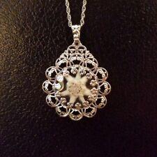 German Bavarian Women's Oktoberfest Jewelry - Real Edelweiss Flower Necklace