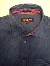 REPLAY  camicia uomo casual cotone linea vintage mis L (slim fit)