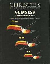 CHRISTIE'S GUINNESS ADVERTISING WARE Beer Auction Catalog 1996