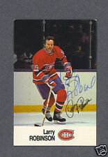 Larry Robinson signed Montreal Canadiens 1988 Esso card