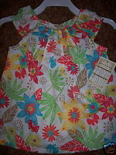 NWT Arizona Jean Infant Girl Floral White Top Shirt 12M