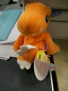"Agumon Digimon Plush 6"" Bean Bag Bandai Japan New! action figure"