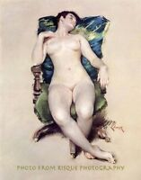 """Sleeping Nude Woman, 8.5x11"""" Photo Print, William Chase Painting Lovely Fine Art"""