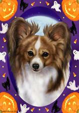 Papillon Sable Halloween Howls Flag