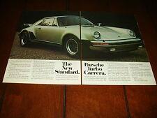 1976 PORSCHE TURBO CARRERA - ORIGINAL 2 PAGE AD
