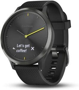 Garmin vIvomove HR, Hybrid Smartwatch for Men and Women, Black Large