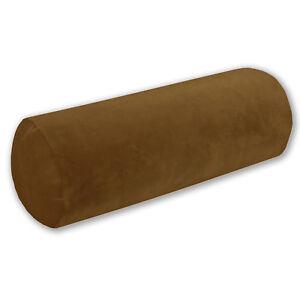 Mf34g Pale Gold Brown Soft Microfiber Velvet Bolster CASE Neck Roll COVER Size