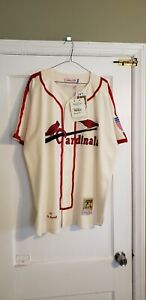 100% Authentic Mitchell & Ness 1944 Cardinals Stan Musial Jersey Size 52 XXL New