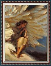 """Hand painted Original Oil painting art Impressionism girl angel on Canvas 24X36"""""""