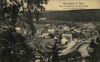 Königshof Post Rothehütte Oberharz Harz 1924 Fluß Bode Panorama Totale Dorf Wald