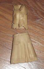 Vintage Johnny West Marx Vest Skirt Jane West Fringe Tlc