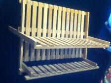 Bamboo Tiki Bar Dish Drain Wood Fold Tier Kitchen Art Cup Glass Dry Rack Storage