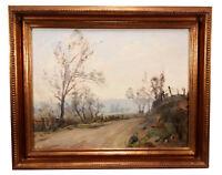VINTAGE IMPRESSIONIST LANDSCAPE OIL PAINTING ART PAUL WEINDORF CALIFORNIA ARTIST