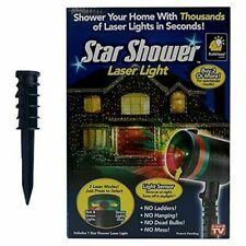 Star Shower Laser Light Holiday Lights Red or Green Spray Pattern Indoor Outdoor