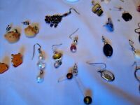 L9   Mixed Lot Jewelry Craft Supplies Beads Findings Single Pierced Earrings