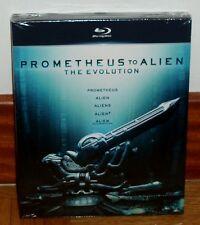 PROMETHEUS TO ALIEN THE EVOLUTION-5 BLU-RAY-NUEVO-NEW-PRECINTADO-CIENCIA FICCION