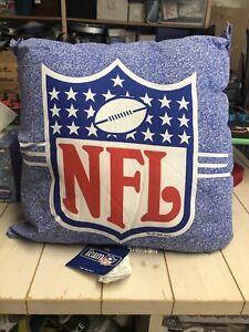 NOS NFL Vintage 90s 1995 Throw Pillow Football Blue Rare AFC NFC Bedding 1990s