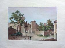 ROMA, porte- S. LORENZO GIA' ESQUILINA ZUCCAGNI OBI gravure origin. 1845