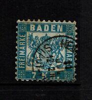 Baden SC# 28, Used, minor creasing, minor toning - S8529