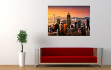 "HONG KONG SKYLINE NEW GIANT LARGE ART PRINT POSTER PICTURE WALL 33.1""x23.4"""