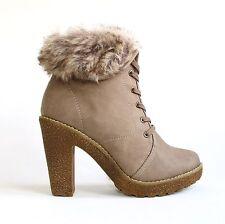 Damen Stiefeletten Braun 40 Ankle Boots Pumps High Heels Stiefel GA8469
