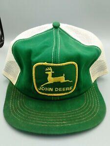 Vintage John Deere Snapback Trucker Hat Patch K-Brand