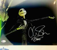 Chris Sarandon signed Jack Skellington 11X14 photo BAS COA WAO4899