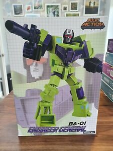 TRANSFORMERS B&A BULKY ACTION  ENGINEER GENERAL AKA DEVASTATOR