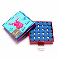 50PCS /Box 10mm Billiard Blue Pool Snooker Cue Tips Snooker Accessories