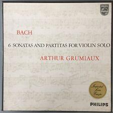 BACH 6 Sonatas & Partitas SOLO VIOLIN 3x LP Philips 835198/200AY audiophile TAS