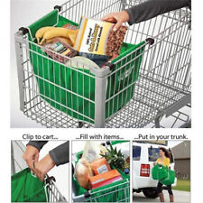 Reusable Grocery Shopping Eco Foldable Bags Clip-To-Cart Grab Bag Non-woven