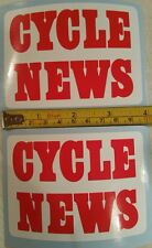 Cycle News sticker AHRMA Vintage Motocross Fox CR YZ RM KX 125 250 400 465 500