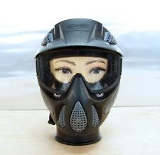 JT Full Coverage Paintball Mask Anti Fog Goggle  with visor Black and Grey Used