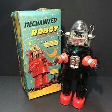 Mechanized Robbie the Robot, Batt. Oper. WORKS Nomura Showa Japan Vintage 1950's