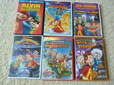 6 DVD Chipmunk Bundle: Adventure, Christmas, Halloween, Go to Movies and more