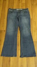*Charlotte Russe* Wmn's 8 Short Low Whisker Stretch 5 Pkt Flare Jeans 30x29