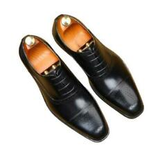 38-46 Mens Real Leather Business Leisure Shoes Square Toe Derby Oxfords Party L