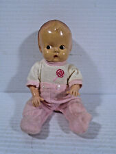 "Vintage Hard Plastic Baby Doll 7"" Side Glancing Eyes Unmarked Dressed"