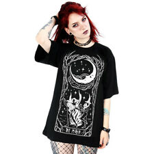 Restyle Gothic Goth Okkult Fantasy Damen Relaxed T-Shirt - Witches Chant Mond