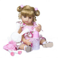 "22"" Lifelike Toys Doll Reborn Girl Baby Full Body Bath Toy Anatomically Correct"
