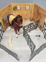 18/'/' American Girl DOLL Horse Stable Supplies Barn Rake Manure Bedding Fork Red