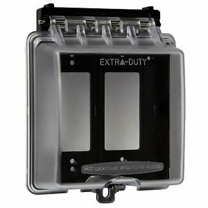 ENERLITES Extra Duty 2 Gang Weatherproof Outdoor Decorator GFCI Cover