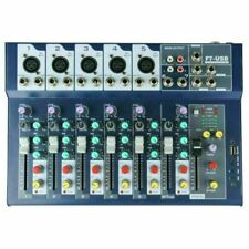 Professional 7-Channel Audio Sound Mixer USB Mixing Console w/48V Phantom Power