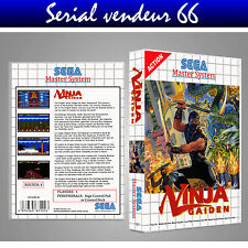 MASTER SYSTEM : NINJA GAIDEN. COVER PRINTED + CASE / BOX. NO GAME. MULTILINGUAL.