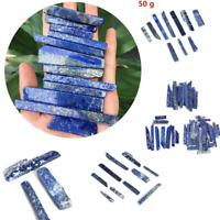 50G Natural Lapis lazuli Quartz Crystal Blue Stone Point Specimen Healing Stone~