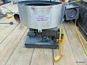 """15"""" Vibratory Bowl Parts Feeding Feeder Totally Integrated Feeders Electric"""