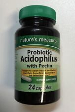 Nature's Measure Probiotic Acidophilus W/ Pectin, 24 Capsules Sealed Bottle