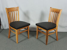 Stuhl APFELBAUM Massivholz Esszimmerstuhl Küchenstuhl Design Sitzpolster Leder