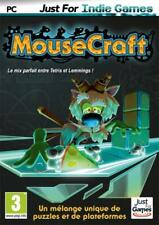 JEU PC MOUSECRAFT PUZZLES LEMMINGS TETRIS  WINDOWS XP/VISTA/7/8